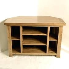 corner media cabinet. Corner Audio Cabinet Solid Wood Media With Open Shelf Placed On White Fur Rug Wall Mount Tall