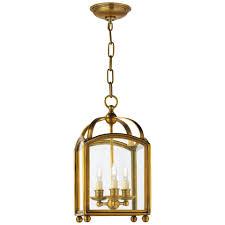 arch top mini lantern in antique burnished brass