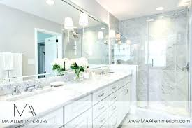 White Marble Countertops And Grey Cabinets With  Kitchen T60