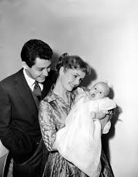 debbie reynolds and eddie fisher movies. Interesting Debbie Actress Debbie Reynolds And Her Husband Singer Eddie Fisher Pose With  Tenweekold Daughter Carrie Frances For The First Family Picture Jan Inside And Fisher Movies N