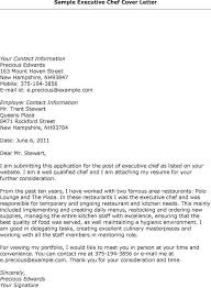 Cover Letter For Resume Pastry Chef Lezincdc Com