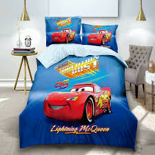 mcqueen car single size bed duvet doona