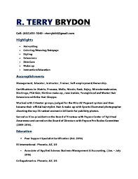 Cosmetologist Resume Template Delectable Cosmetology Resume Templates Cosmetology Resume R Terry Cosmetology