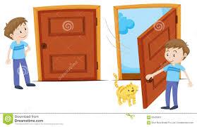 closed door clipart. Closed Doors Clipart And Door Opened Stock Vector Image