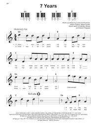 More piano tutorials on this website! 7 Years Sheet Music Lukas Graham Super Easy Piano Piano Sheet Music Letters Clarinet Sheet Music Saxophone Sheet Music