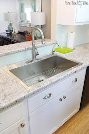 laminate kitchen countertops with white cabinets. Delighful White Stainless Steel Drop In Sink With Laminate Kitchen Countertops White Cabinets O