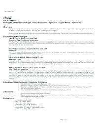 Film Production Assistant Cover Letter Film Producer Cover Letter Assistant Producer Resume Resume For