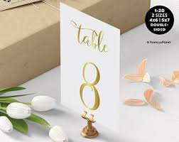 table number cards. wedding table numbers, gold numbers for wedding, number cards d