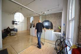 glass doors with magnetic lock
