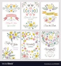 Floral Design Of Wedding Invitation Cards