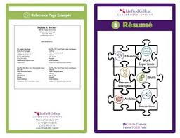 resume booklet resume linfield college