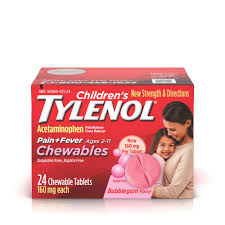 Childrens Tylenol Pain Reliever Fever Reducer Chewables
