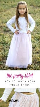 how to sew a soft long tulle skirt that s perfect for a holiday
