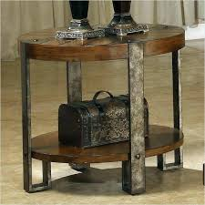 metal round end table rustic round end table rustic end tables oval rustic table rustic