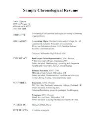 Chronological Resume Format Classy Examples Of Chronological Resume Resume Format Examples