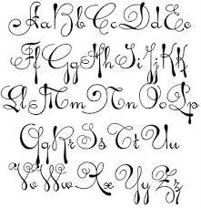 graffiti Alphabet swirly whirly fonts