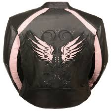 add to my lists milwaukee womens pink reflect wings leather cruiser motorcycle jacket