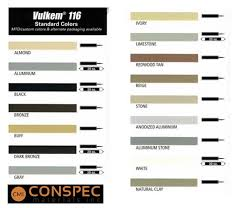 Tremco Color Pack Chart