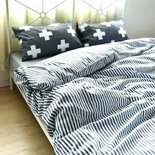 grey and white striped duvet set cover