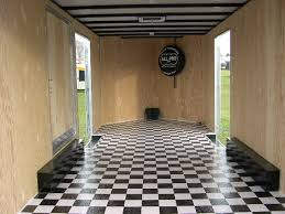 enclosed trailer flooring options floor ideas inside design 18