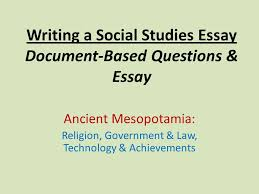 writing a social studies essay document based questions essay  writing a social studies essay document based questions essay