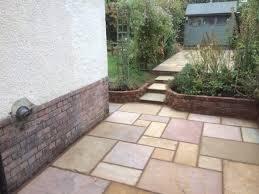 new patio retaining wall job
