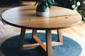 round table furniture melbourne and handmade custom round timber dining table diameter with cross legs dining