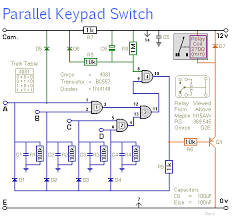 a simple keypad operated switch enhanced security circuit diagram of a universal keypad operated switch enhanced security
