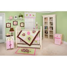captivating ladybug crib bedding with table lamp and french door
