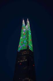 The Shard London Christmas Lights Shard Lights The Shard