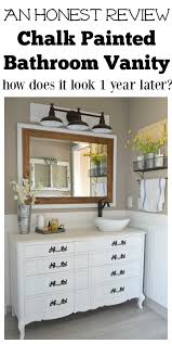 Small Picture Honest Review of My Chalk Painted Bathroom Vanities