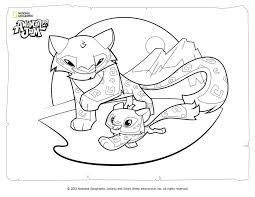 Animal Jam Coloring Pages Snow Leopard L L L L L