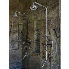exposed shower system. Picture Of Sonoma Forge Waterbridge 880 Exposed Shower System With Tub Filler And Handshower
