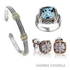 the andrea candela collection is a beautiful line of silver and 18k yellow gold pieces mixed with beautiful gemstones and diamond accents andreacandela