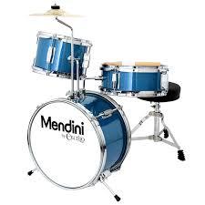 mendini by cecilio 13 inch 3 piece kids junior drum set with adjule throne
