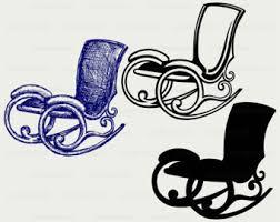 rocking chair silhouette. Rocking Chair Svg/rocking Clipart/rocking Svg/silhouette/cricut Cut Silhouette