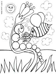 The Very Hungry Caterpillar Coloring Page Coloring Pages Incredible