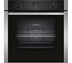 neff b3ace4hn0b slide and hide electric oven stainless steel