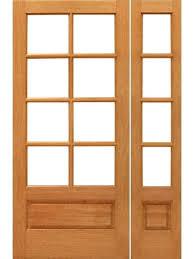 1 panel interior door 8 lite french mahogany wood 1 panel glass side lht door by