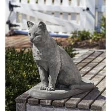 31 cat garden statues that will beautify your band of cats