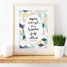 trendy office decor. This Inspirational Quote Is Set On A Trendy Geometric Background. Perfect For Office Decor Or