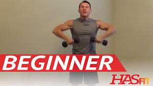 15 Minute Beginner Weight Training Easy Exercises Hasfit Beginners Workout Routine Strength