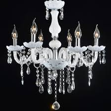 french provincial glass chandelier 6 lamp arms ceiling light lighting white unbranded