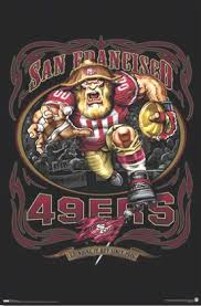 forty niners logo san francisco 49ers nfl football team logo poster