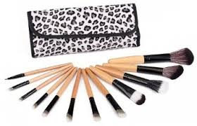 get ations frola cosmetics new portable 12 pcs makeup brushes set with soft leopard case