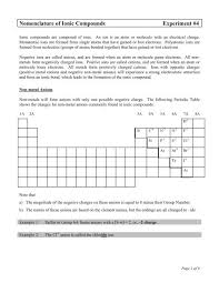 ionic compounds experiment 4
