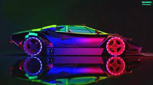 Lamborghini Neon wallpaper, Machine ...