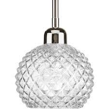 Pineapple Mini Pendant Light Progress P5041 104 1 Light 6 Inch Polished Nickel Mini Pendant Ceiling Light
