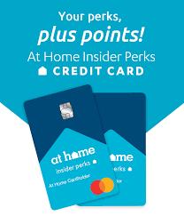 Reports to major credit bureaus; Credit Card At Home