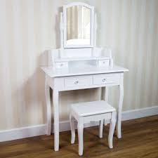 image of small white makeup desk